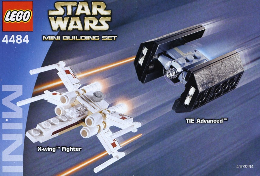 4484-1 X-Wing Fighter & TIE Advanced